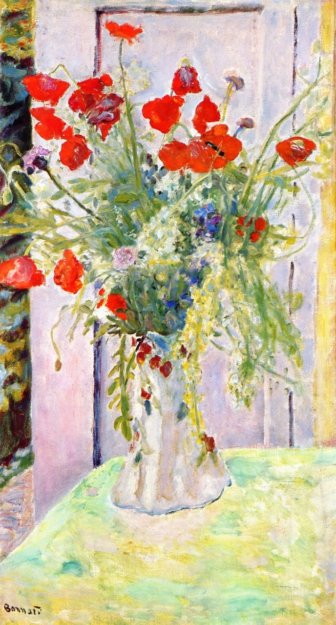 The Athenaeum Red Poppies Pierre Bonnard No Dates Listed