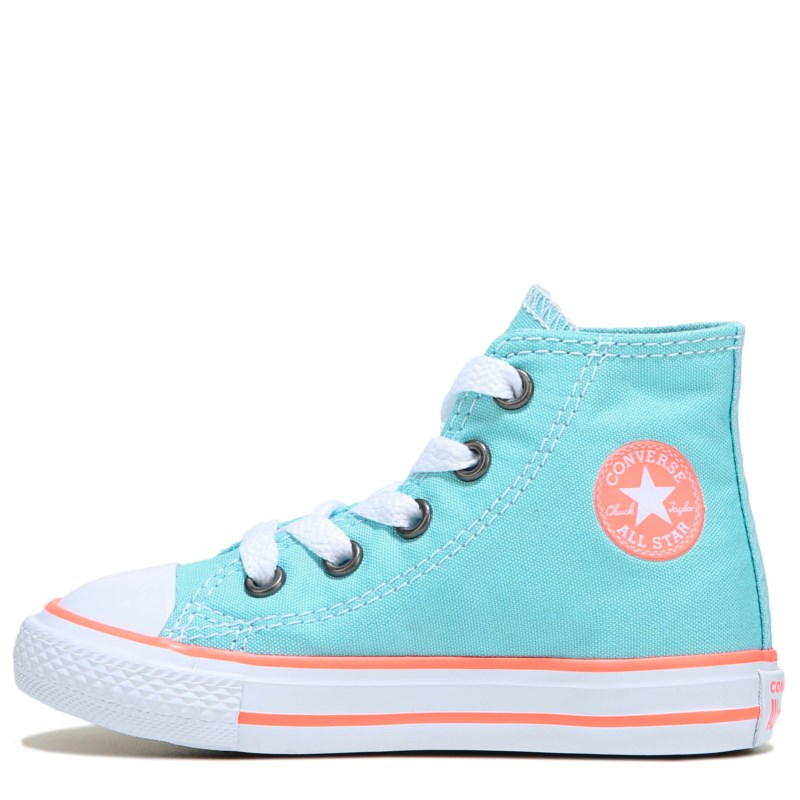 eade6d08f2d8 Converse Kids  Chuck Taylor All Star High Top Sneaker Toddler Shoes (Aqua Crimson  Pulse)