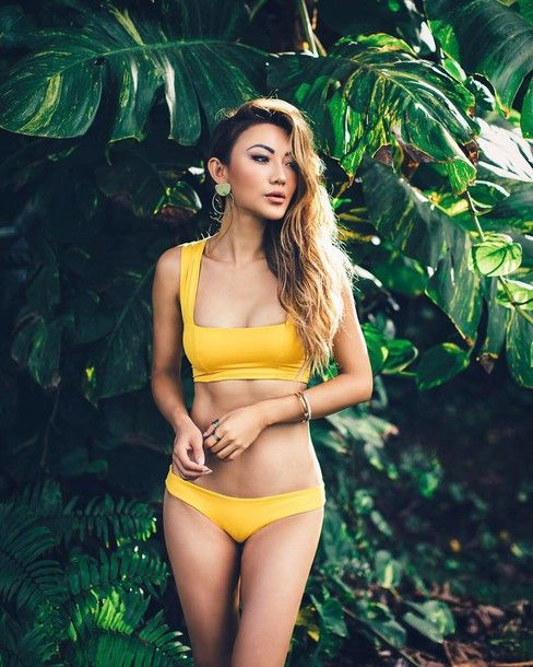 72498d18cb9c1  15 -  50 Bright Summer Yellow Bandeau Matching Two Piece Bikini Swimsuit  Swimwear Tumblr