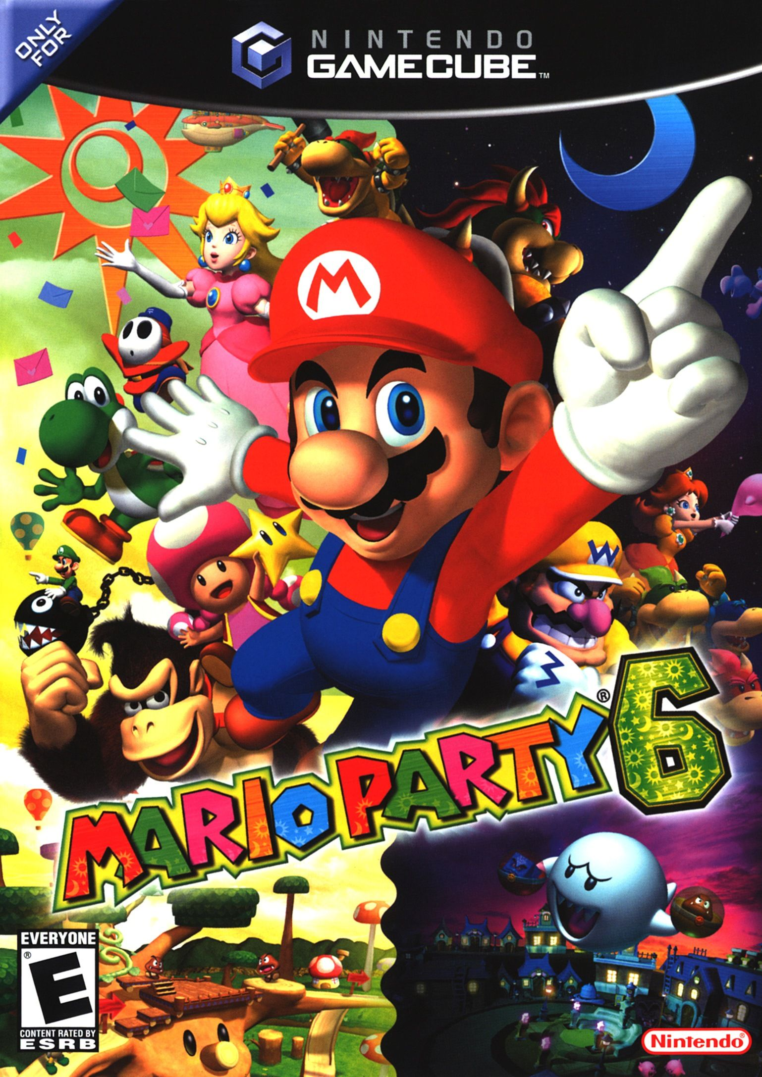 Mario Party 6 Nintendo GameCube Video Game Complete w Booklet & Case Tested  2004