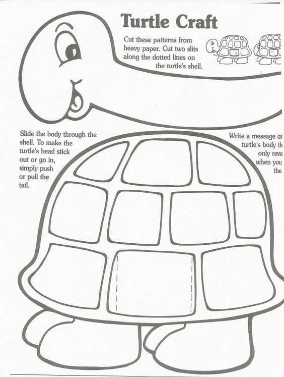 Marvelous A Turtle Craft In Which The Head Tucks Into The Shell, Plus Other Turtle  Crafts For Preschoolers.