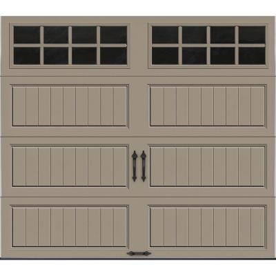 Clopay Gallery Collection 8 Ft. X 7 Ft. 18.4 R Value Intellicore Insulated  Sandstone Garage Door With SQ24 Window   GR2LU_ST_SQ24 At The Home Depot