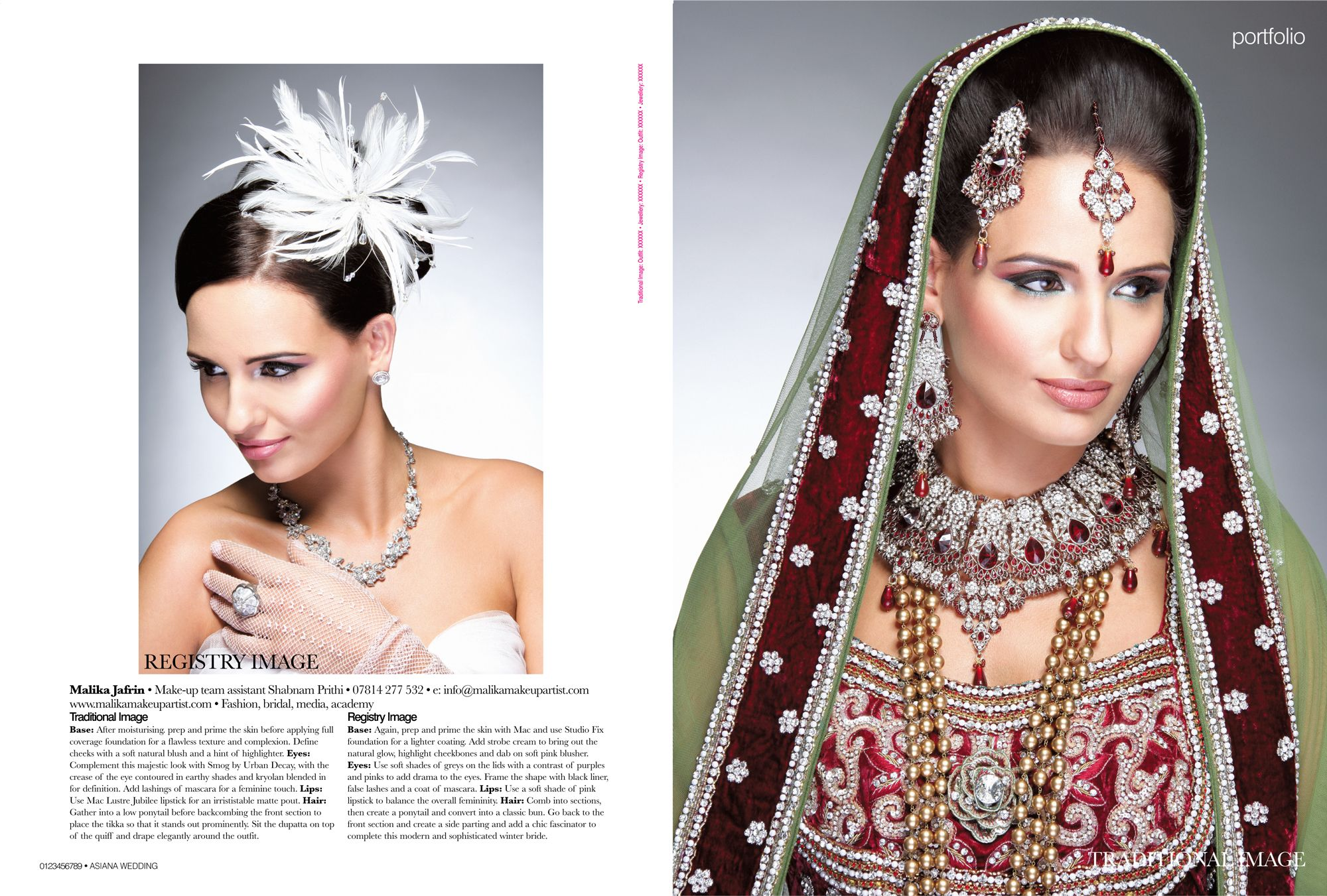 Bridal Portfolio in Asiana Magazine | EDITORIAL PR | Pinterest ...