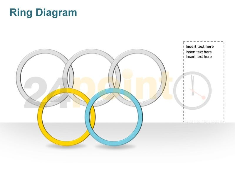 editable powerpoint template olympic rings not colour