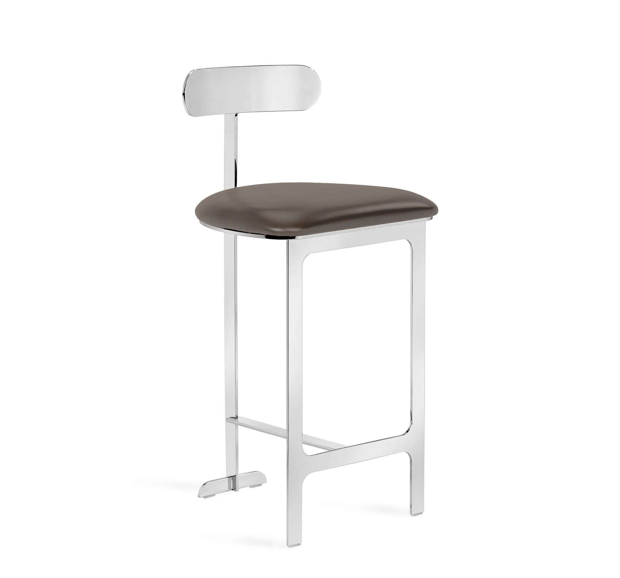 Hollis Counter Stool In Grey Nickel Counter Stools Stool Home Decor