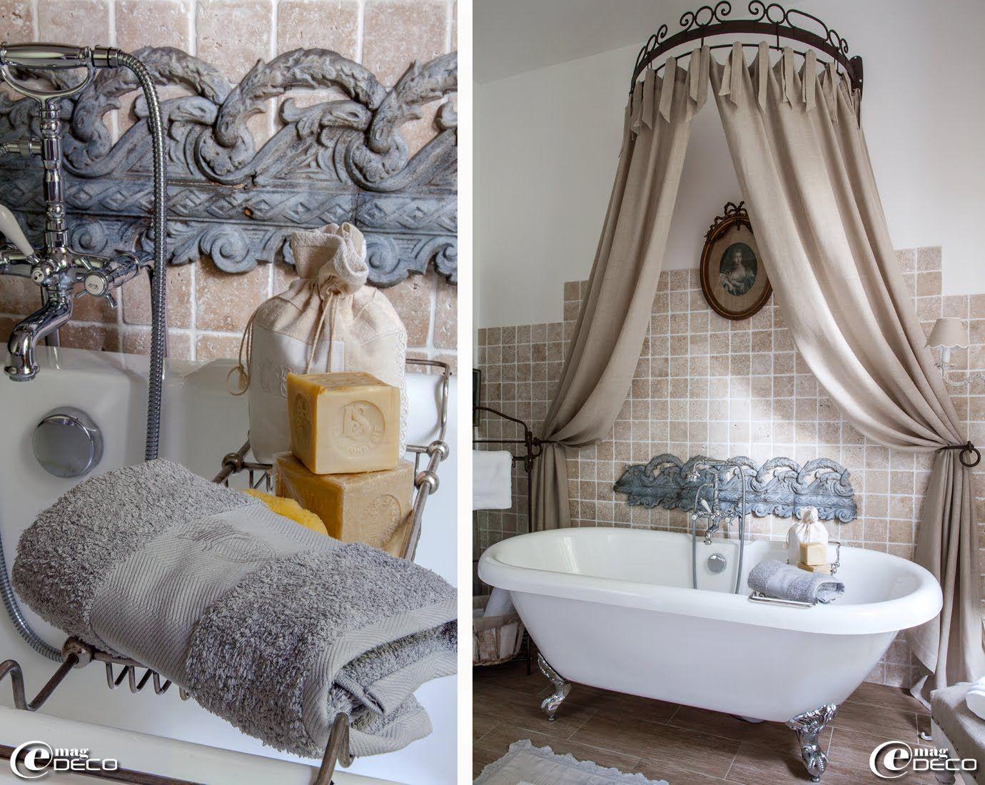 Ciel de lit et porte serviette en fer forg 39 comptoir de - Porte serviette salle de bain leroy merlin ...