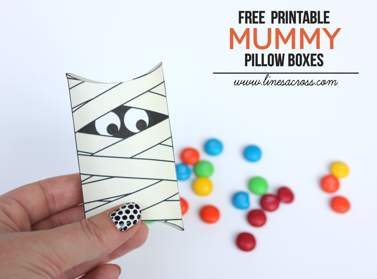 Free printable mummy pillow boxes