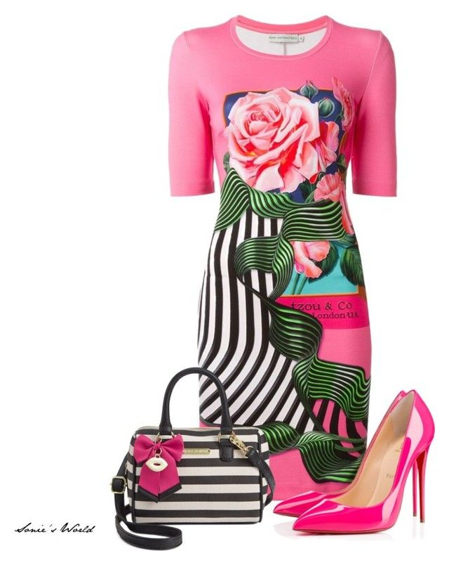 """""""Molli"""" by sonies-world on Polyvore featuring Mary Katrantzou, Christian Louboutin and Betsey Johnson"""