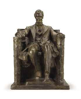 Daniel Chester French (1850-1931) Seated Lincoln inscribed 'D.C. French/June 1915' (on the back of the chair) bronze with brown patina 10 in. (25.4 cm.) high Modeled in 1915; cast by 1931.