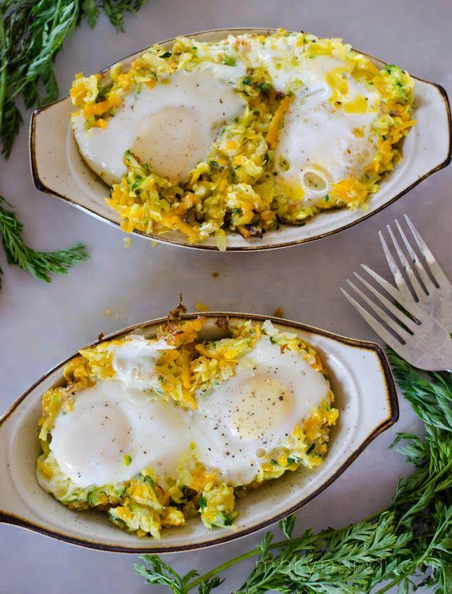 Summer Veggie Egg Nests paleo friendly! (gluten, dairy, potato, soy, nut free)