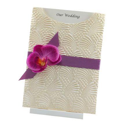 Silk orchid Wedding InvitationsPlace Cards Pinterest Silk