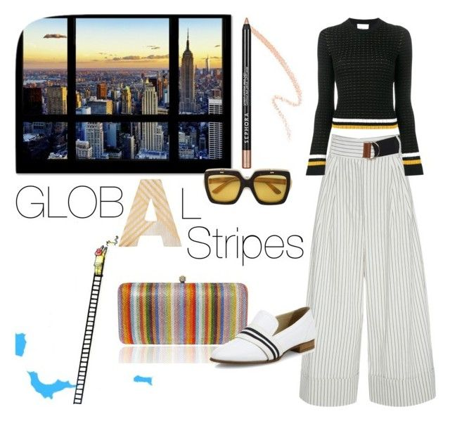 """Global Stripes"" by sineo-1 on Polyvore featuring Mode, Argento SC, TIBI, 3.1 Phillip Lim, rag & bone und Gucci"