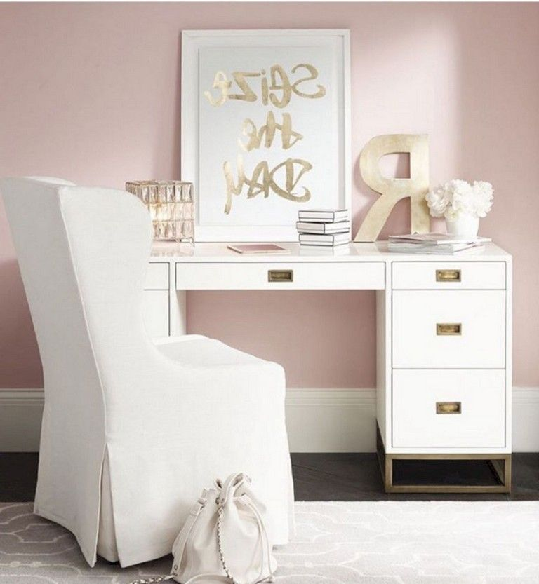 30 nice romantic pink home offices color scheme ideas on office color palette suggestions id=67747