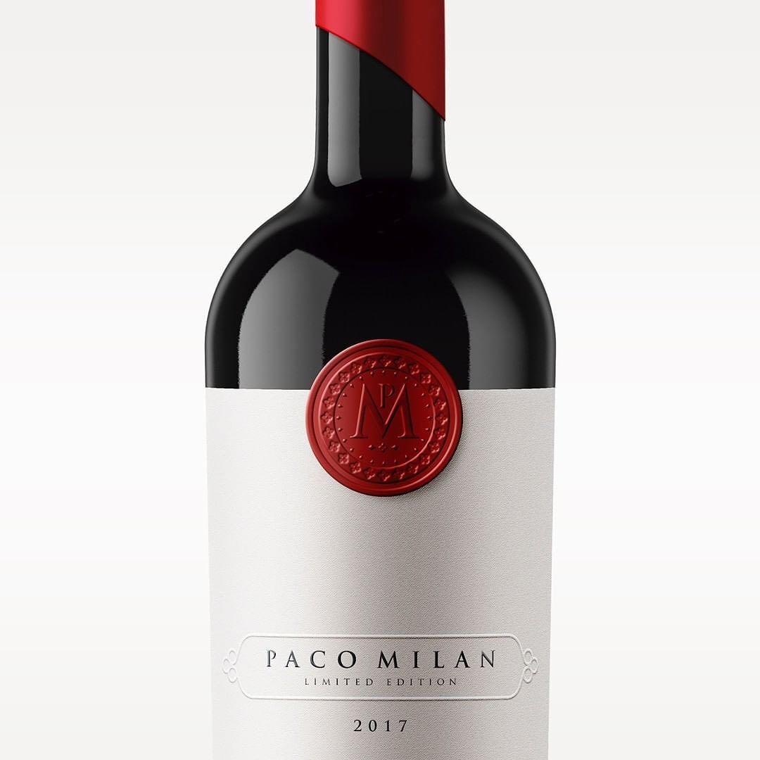 Armoder Design Armoderdesign Nuevo Proyecto De Creatividad Y Diseno Logotipo Etiqueta Y Packaging Vino Paco Milan Realizado Par In 2020 Wine Bottle Bottle Branding