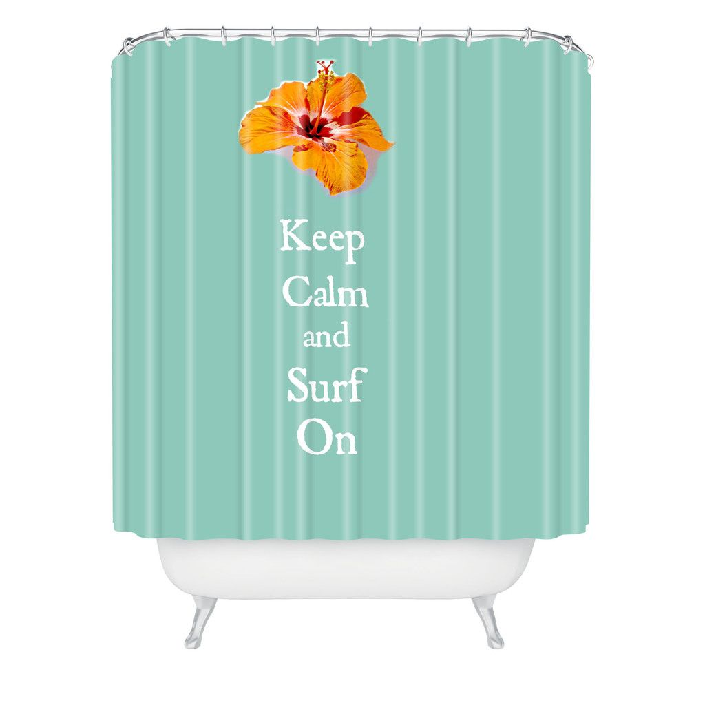Deb Haugen Stay Calm Shower Curtain | DENY Designs Home Accessories #beachhouse