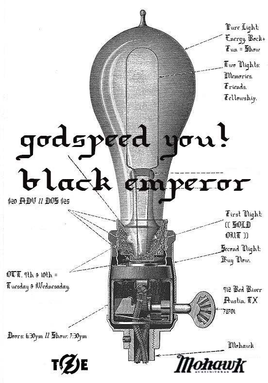 Godspeed You! Black Emperor at the Mohawk.