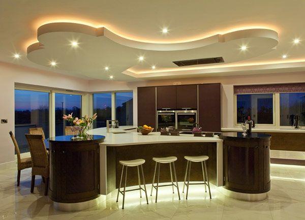 45 wunderschöne Ideen für Küchengestaltung Lichtleiste