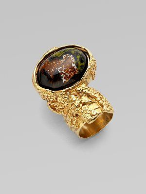 0273d24b1fc Yves Saint Laurent Goldtone Arty Ovale Ring | yes, please | Rings ...