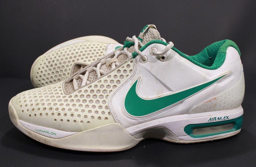 Nike Air Max Court Ballistec 3.3 Sz 11.5 Tennis Shoes Green