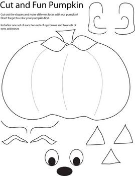 cut and create pumpkin crafts lots of cute printables for the kiddos here - Printable Halloween Shapes