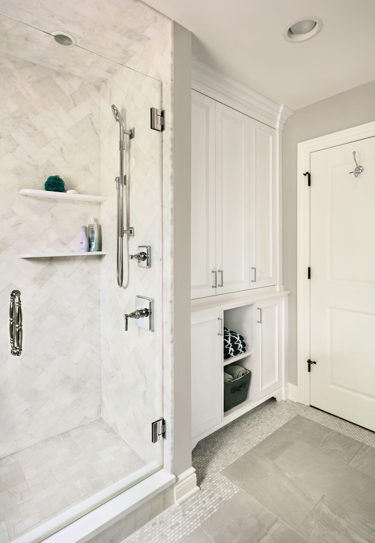 Sawyer Court Residence   Shared Bathroom Shower   Z+ Interiors ...