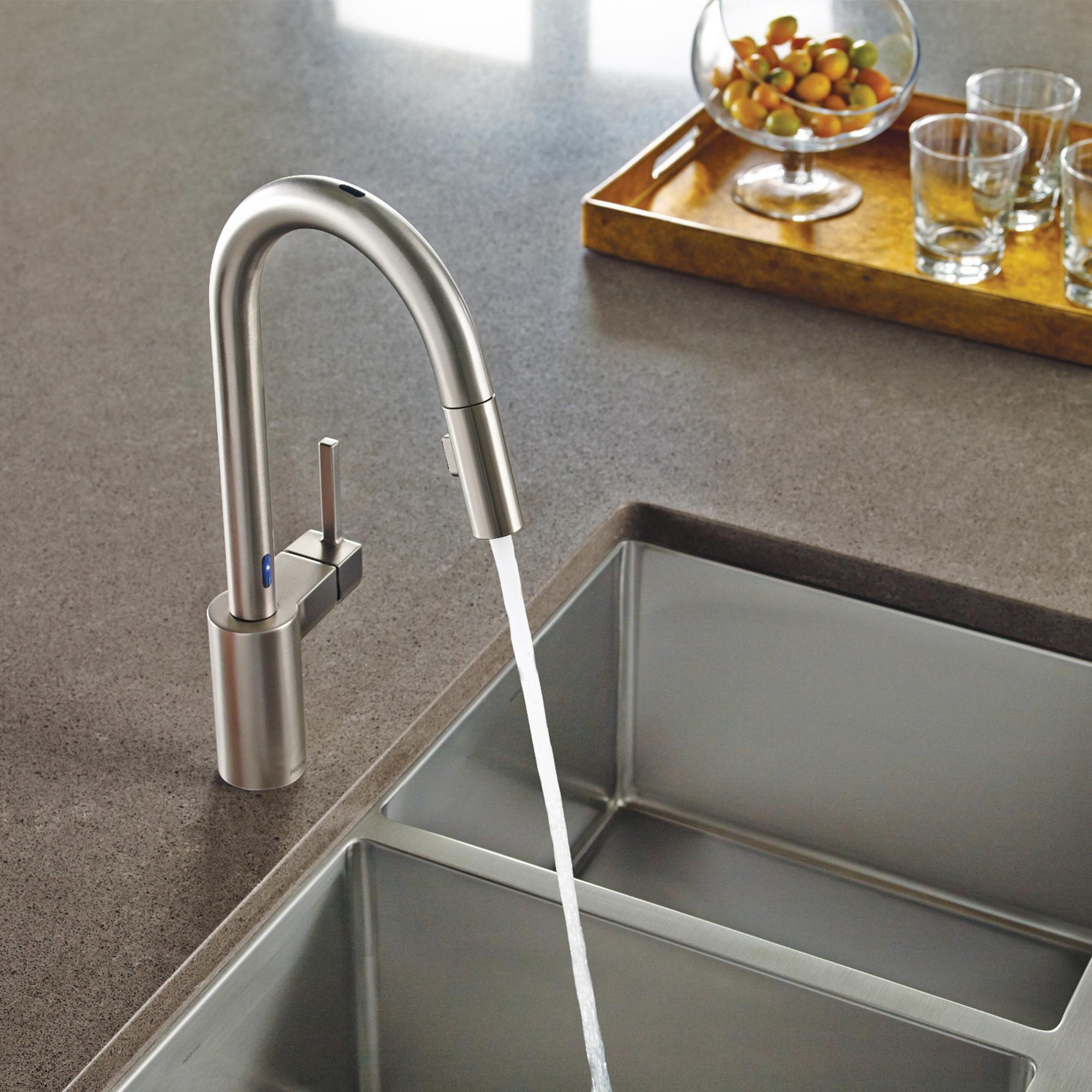 Moen 7565SRS Align e Handle High Arc Pulldown Kitchen Faucet