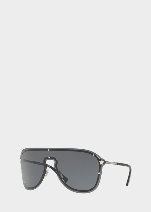 eb1b2af726 Versace Gray  Frenergy Visor Sunglasses for Men