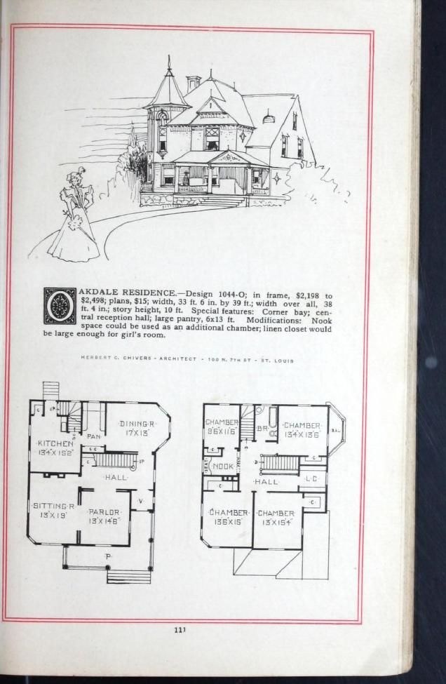 Artistic Homes Herbert C Chivers Architect How To Plan House Floor Plans Architect