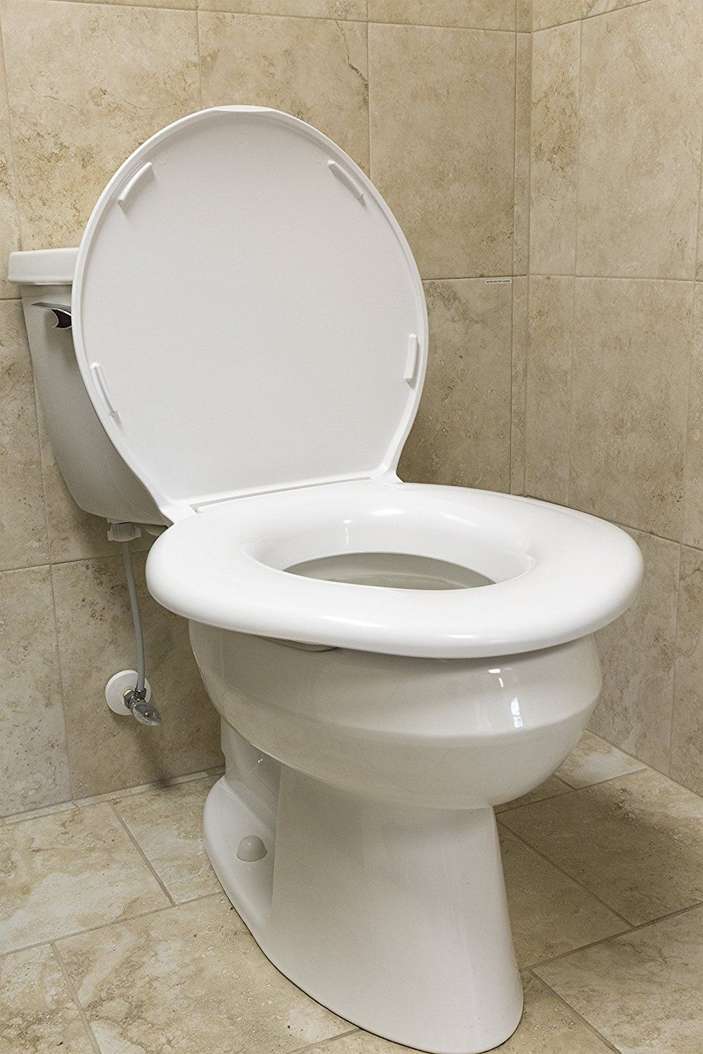Stupendous Big John 1 W Oversized Toilet Seat With Cover And Stainless Machost Co Dining Chair Design Ideas Machostcouk
