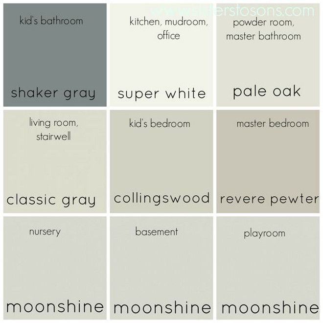 Whole neutral color palette entire home neutral color for Whole house neutral paint colors