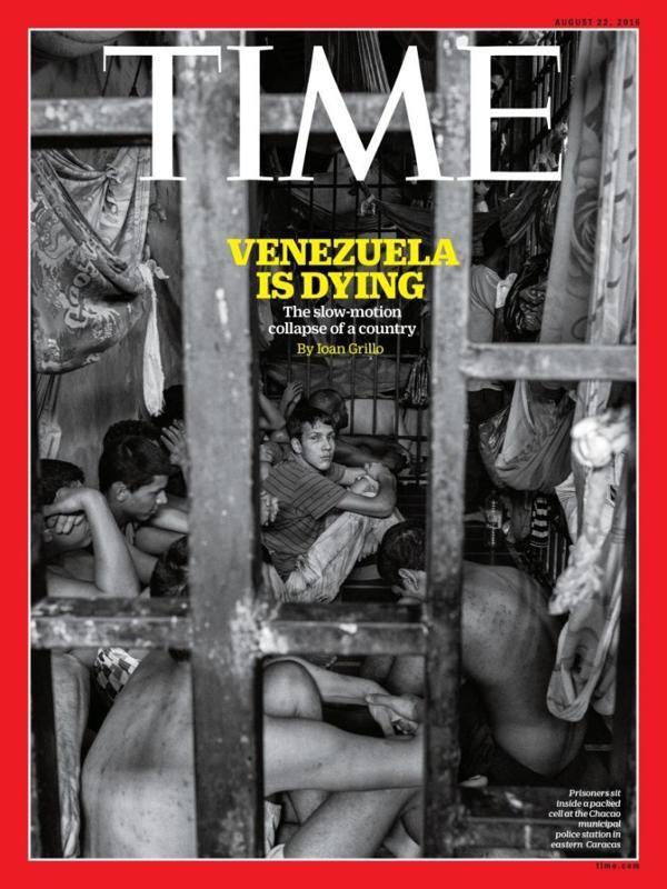 """""""Venezuela se está muriendo"""", la impactante portada de la revista Time"""