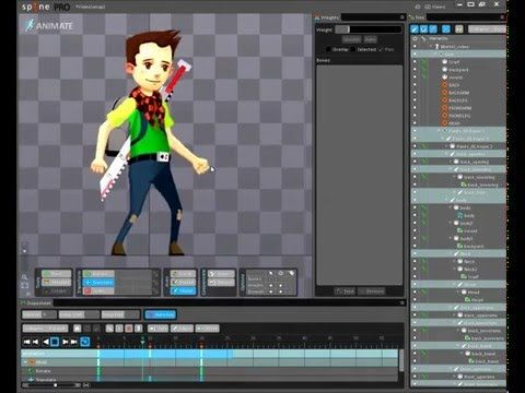 2D Character creation from Photoshop to Unity using Spine