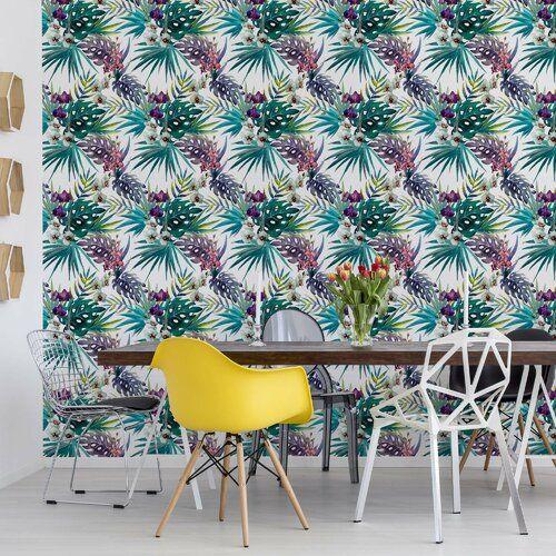 Modern Tropical Pattern 7 <a href=http://5.2m/>5.2m</a> x <a href=http://3.18m/>3.18m</a> Semi-Gloss Wall Mural Brayden Studio