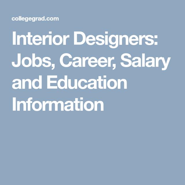 Interior designers jobs career salary and education information also rh pinterest