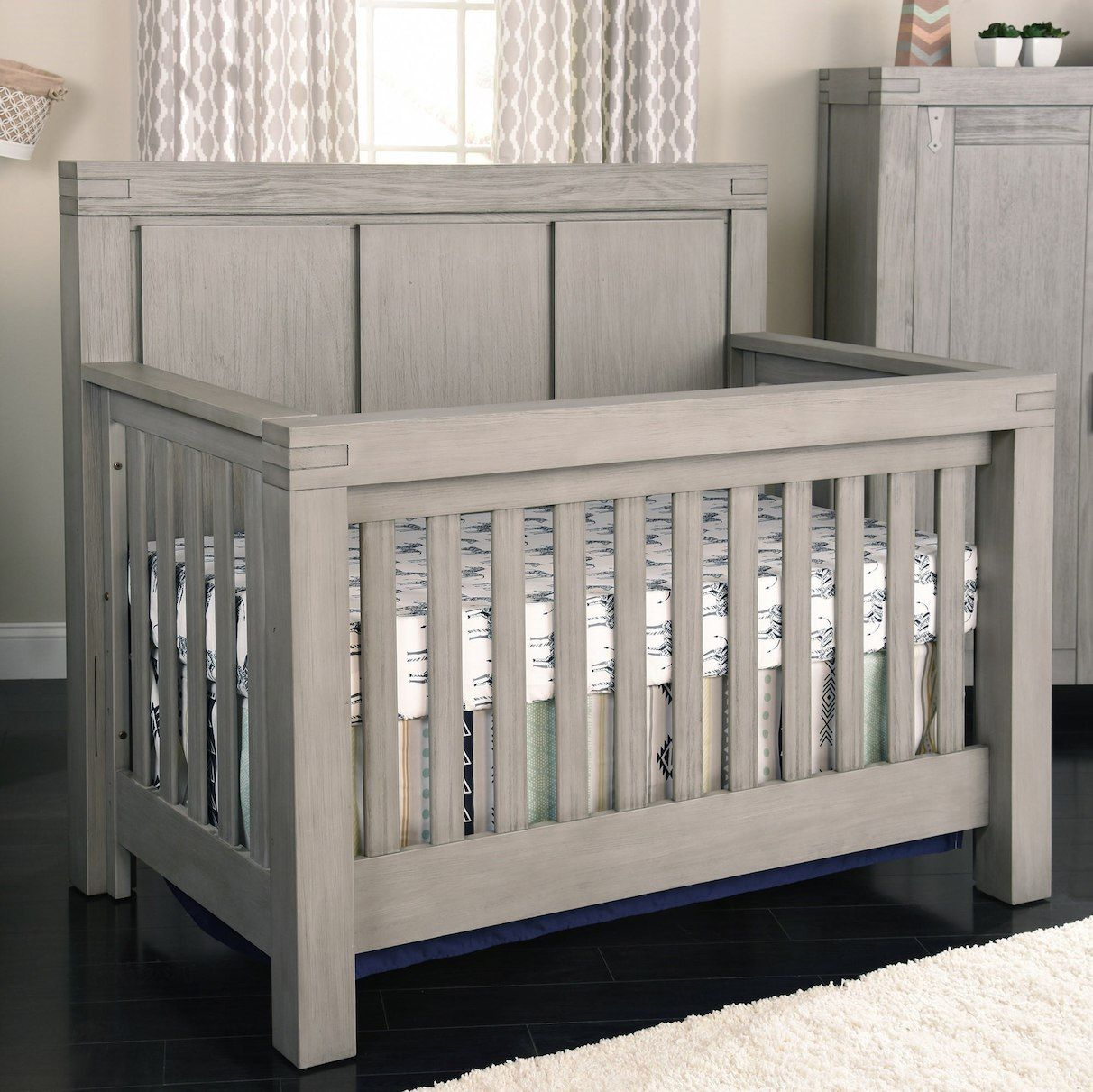 Best Oxford Baby Piermont 4 In 1 Convertible Crib Rustic 400 x 300