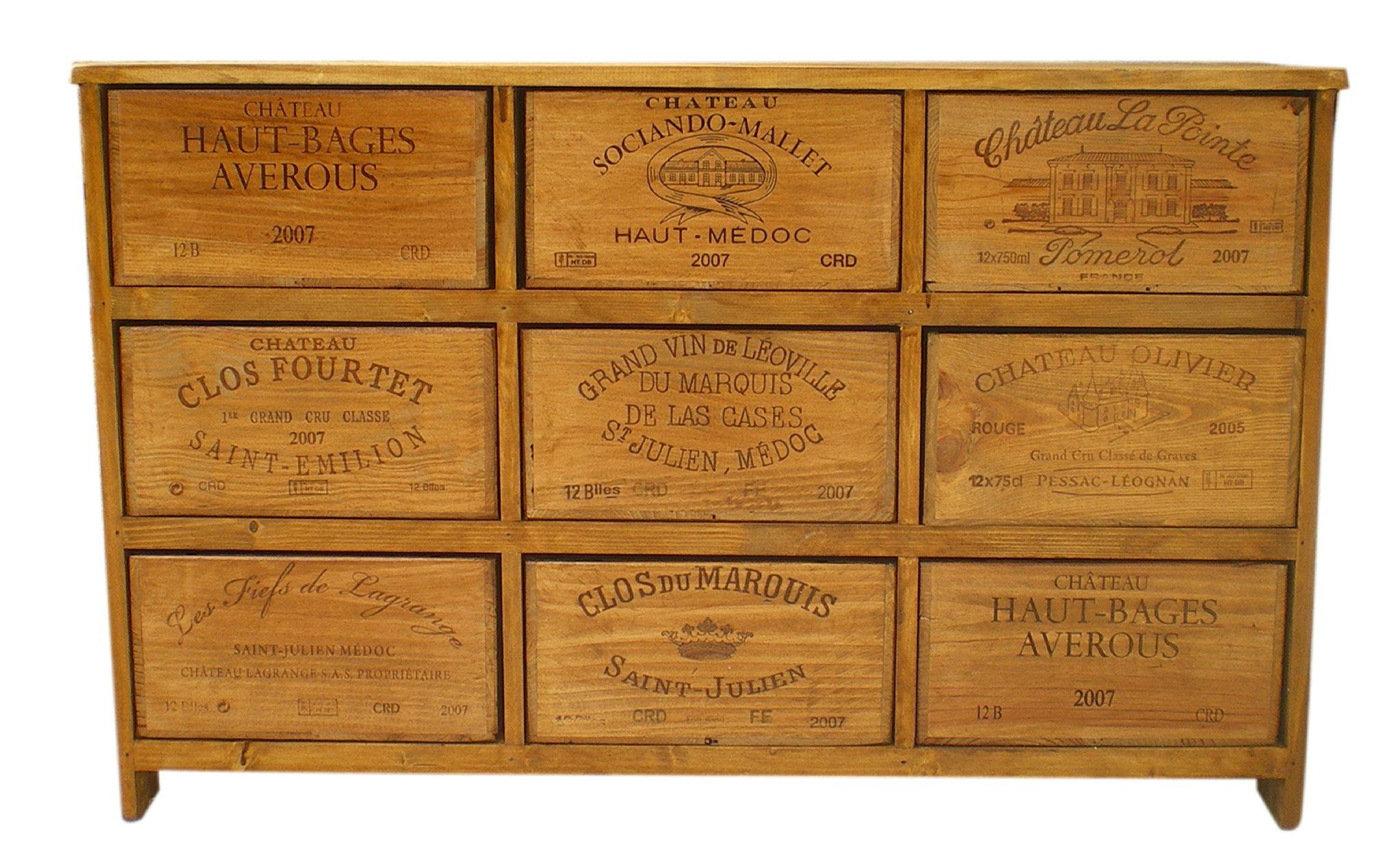 Des Meubles En Caisse De Vin Diy Pinterest Meubles En Caisse  # Meuble Tv Caisse Vin