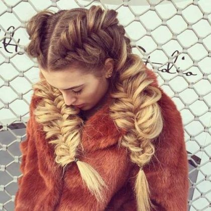 Go for a Thicker Braid Two French Braid Hairstyles