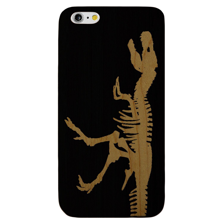 Jurassic Dinosaur T-Rex- Laser Engraved Wood Phone Case (Maple,Cherry,Black,Cork)