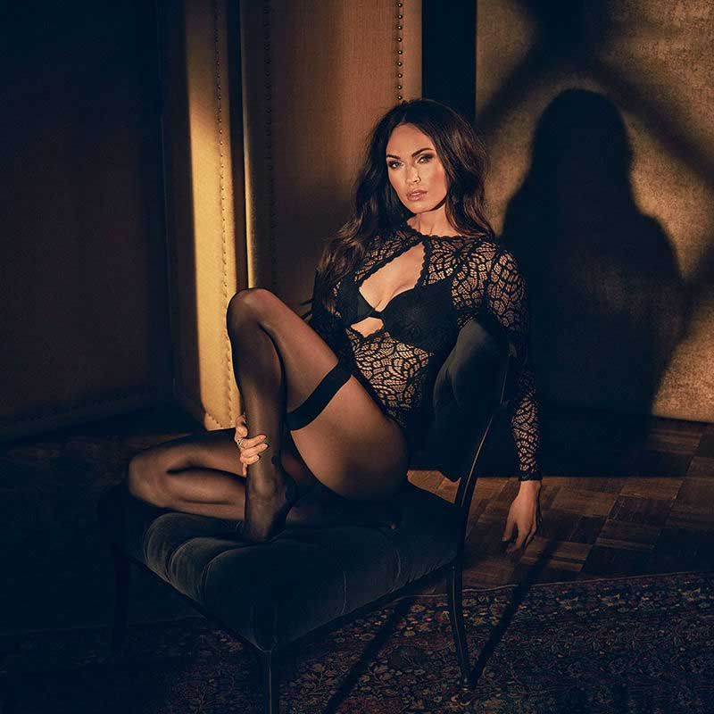 a548a5ca98 Megan Fox Shows Her Sexy Body In A Hot Black Bodysuit For Launch