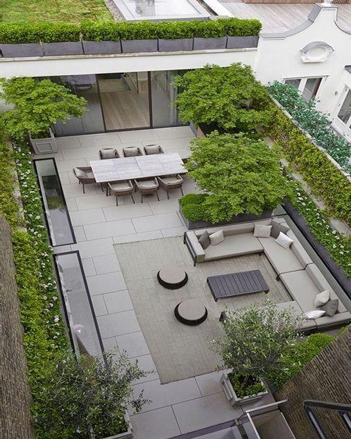 Simple Terrace Garden: 45+ Ideas Rooftop Deck Design Roof Garden Professional