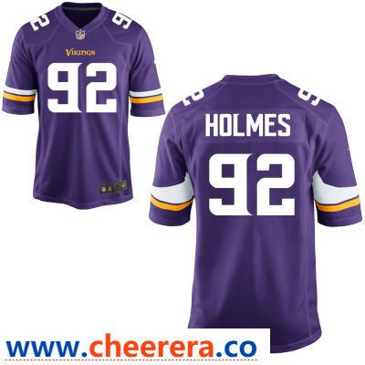 Men s Minnesota Vikings  92 Jalyn Holmes Purple Color Stitched NFL Nike  Game Jersey 2932e7652