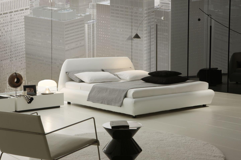 Ravishing-White-Modern-Bedroom-Decoration-Ideas-Superb-Modern-Room-Decoration-Uses-White-Bedroom-Furniture-Of-Pllatform-Bed-And-Small-Desk
