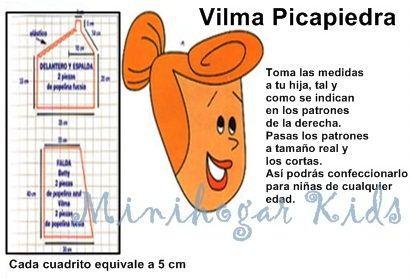 Disfraz de Vilma Picapiedra