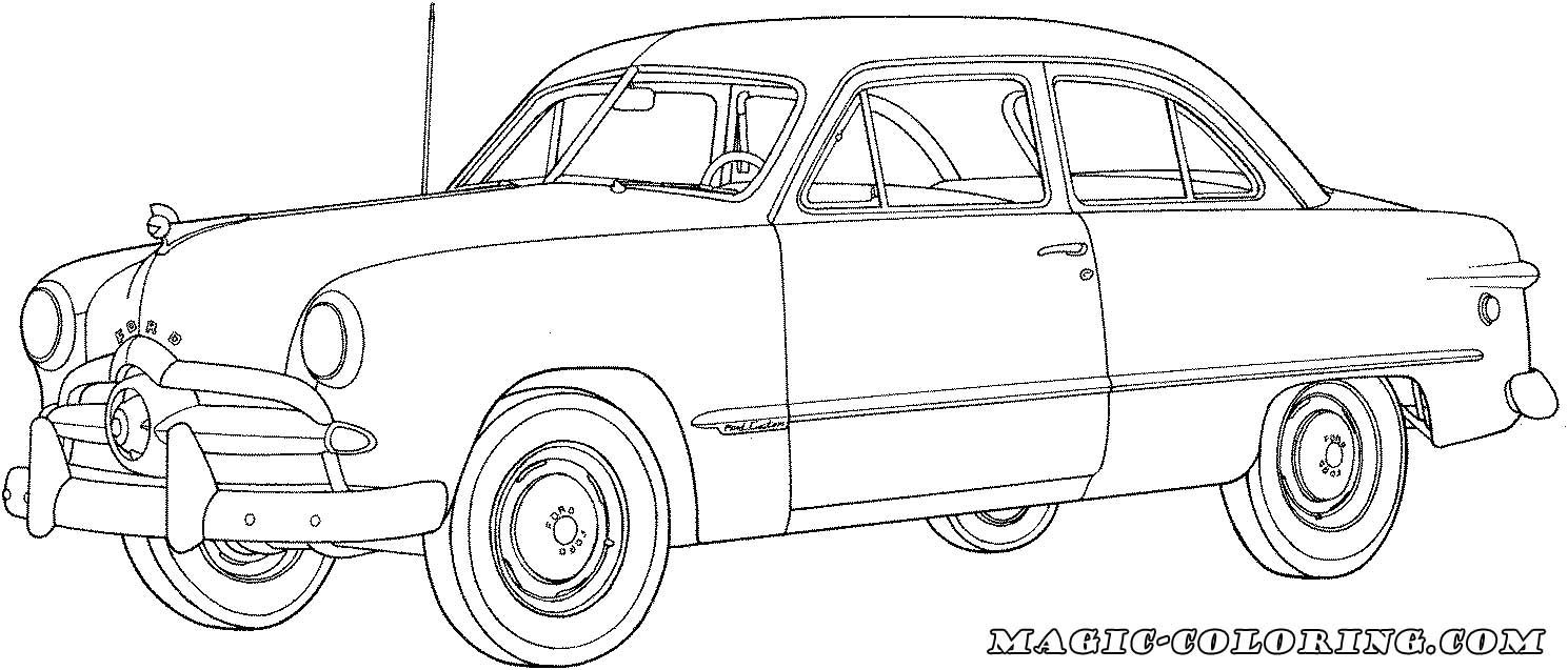 1949 Ford Car Coloring Page Cars Coloring Pages Transportation Coloring Pages Car Coloring