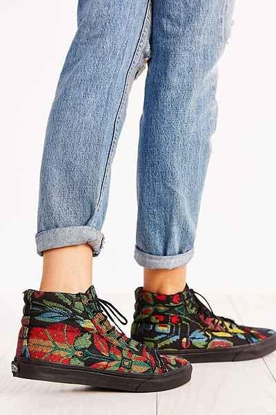 8353cfdd47 Vans Floral Tapestry Sk8-Hi Slim Sneaker - Urban Outfitters