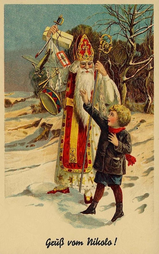 NIKOLAUS NICHOLAS NIKOLO CHRISTMAS WEIHNACHTEN * Vintage 20s PC Litho | eBay