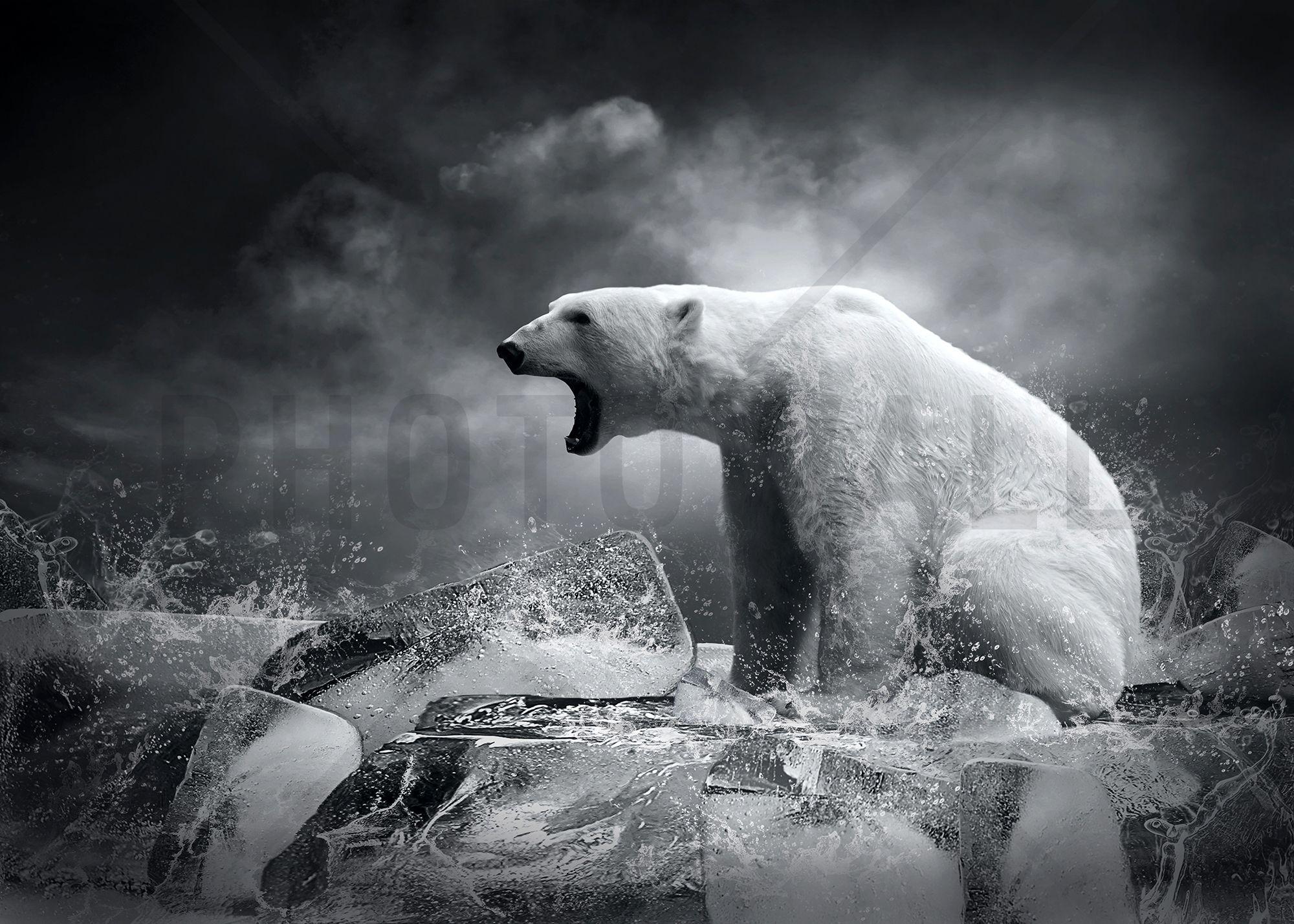 White Polar Bear Hunter Wall Mural Wall Murals
