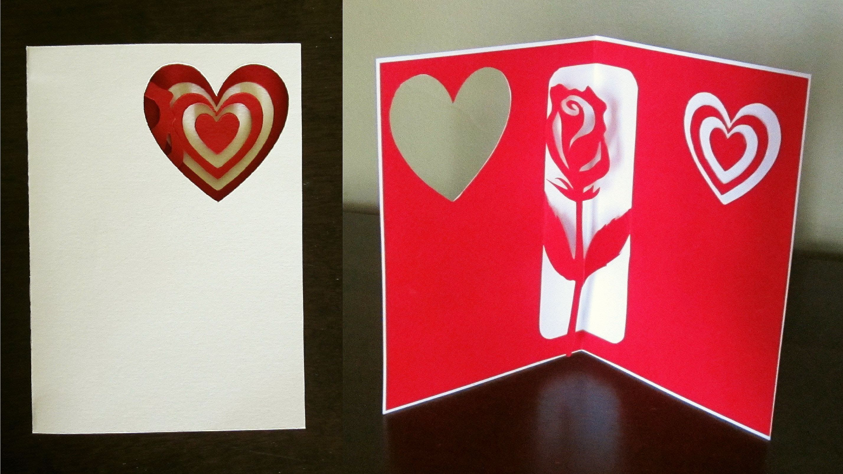 Rose Pop Up Card For Valentine S Day Or Birthday Ezycraft Pop Up Card Templates Birthday Card Template Valentines Cards