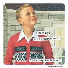 Anne Taintor Square Magnet, Mother Says Im Fabulous