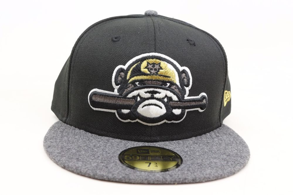 Jackson Generals Black Melton Gray Gold White MiLB New Era 59Fifty Fitted  Hat  NewEra  BaseballCap f93a172b3b5